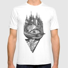 Eye  Mens Fitted Tee MEDIUM White