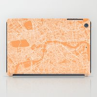 london map iPad Cases featuring London Map by chiams