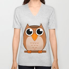 Great Owl Unisex V-Neck