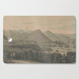 Vintage Pictorial Map of San Francisco CA (1850) Cutting Board
