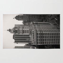Wrigley Building Chicago Black and White Photo Rug