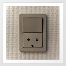Smiling Power Outlet Art Print