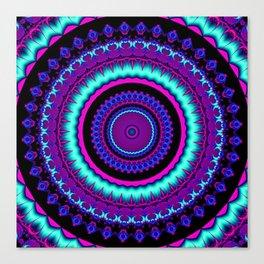 turquoise purple Mandala Canvas Print