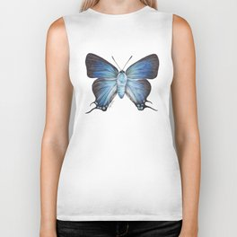 Butterfly - The Great Purple Hairstreak - ATLIDES HALESUS by Magda Opoka Biker Tank