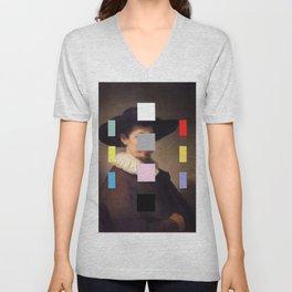 Portrait with a Spectrum 11 Unisex V-Neck