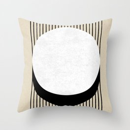Circle B&W Stripes Throw Pillow
