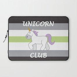 Agender Pride Flag Unicorn Laptop Sleeve