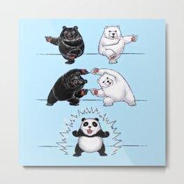 Bear & Polar Bear Fusion = Panda Metal Print