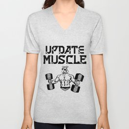 Update muscle Unisex V-Neck