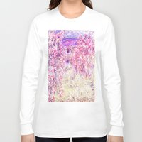 monet Long Sleeve T-shirts featuring Monet : The House Among the Roses  by PureVintageLove