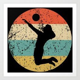 Volleyball Vintage Retro Volleyball Player Art Print