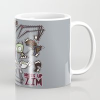invader zim Mugs featuring Dress up Zim by Hoborobo
