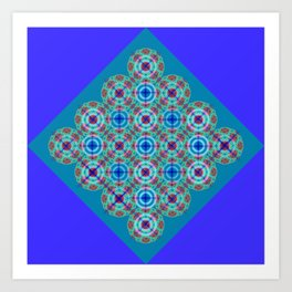 Prelude to Metatron (Indigo) Art Print