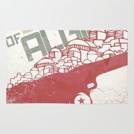 The Battle of Algiers, Gillo Pontecorvo, Italian film, alternative movie, wall art, Africa war Rug