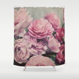 quiet ranunculus Shower Curtain