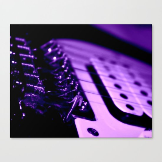 Guitar in Purple fine art photography Canvas Print