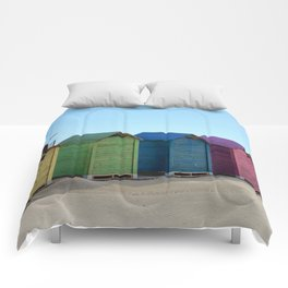 Colorful beach cabinets Comforters