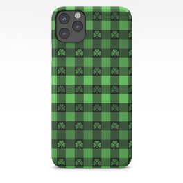 Shamrock Buffalo Plaid Ombre iPhone Case