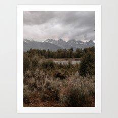 Tetons I Art Print