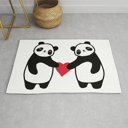 Panda Love  panda bear in love Rug