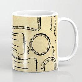 Bottle Support Patent Drawing From 1937 Coffee Mug