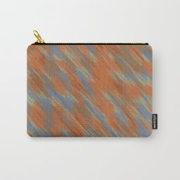 blue orange and brown painting abstract background Carry-All Pouch