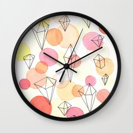 Amber gemstones Wall Clock