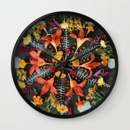 Nature Mandala: July Wall Clock