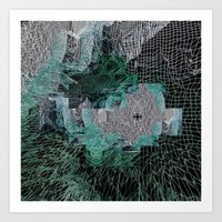 grid Art Prints featuring Grid by Leanne Miller