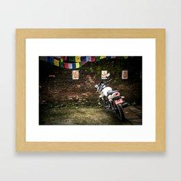 Motorcycle Prayers Framed Art Print