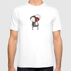 Two Face MEDIUM White Mens Fitted Tee