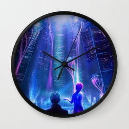 Ready Player One inspired | Painting Poster | CLUB SCENE | PRINTS | #M47 Wall Clock