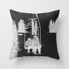 Inverted Ski Lift Throw Pillow