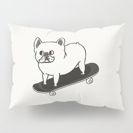Skateboarding French Bulldog Pillow Sham