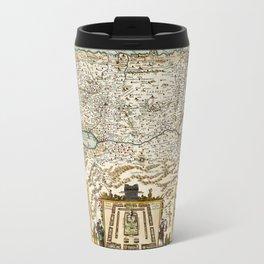Map Of Israel 1660 Travel Mug