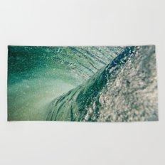 Under Ocean Wave Beach Towel