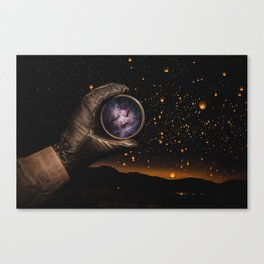 A piece of The Milky Way by GEN Z Canvas Print