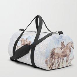 Companions - horse love Duffle Bag