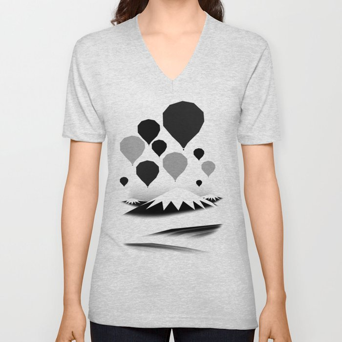 Morning wind balloons Unisex V-Neck