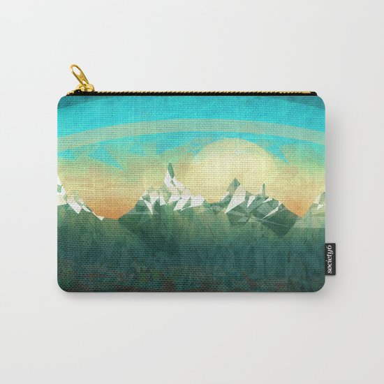 Mountains abowe the blue sky Carry-All Pouch