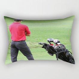 The golfer Rectangular Pillow
