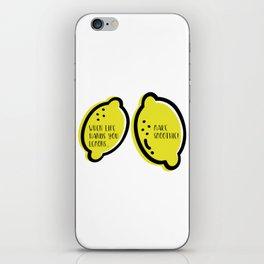 Lemon Quote iPhone Skin