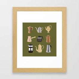 Coffee Pots Framed Art Print