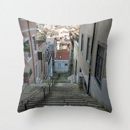 Lisbon stairs Throw Pillow