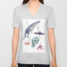 Sea Creatures Unisex V-Neck