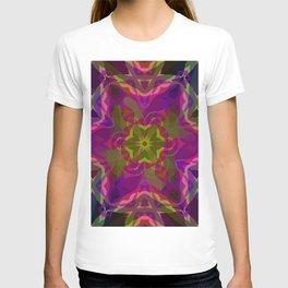 Crimson -purple kaleidoscope T-shirt