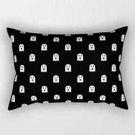 Scary Halloween Ghost Polka Dot Pattern Rectangular Pillow