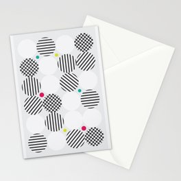 A pop of black and white Stationery Cards