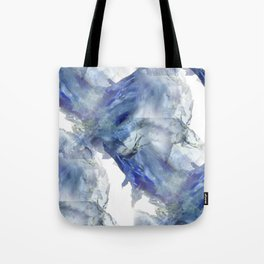 Soft abstract blue paint splotches Tote Bag