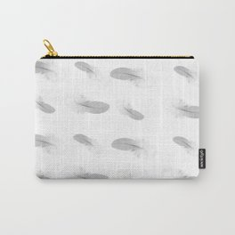 soft grey feather pattern Carry-All Pouch